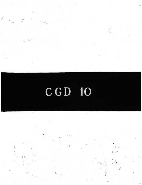 CGD-10 : Aircraft Design and Development Work at Huetter G.m.b.H.