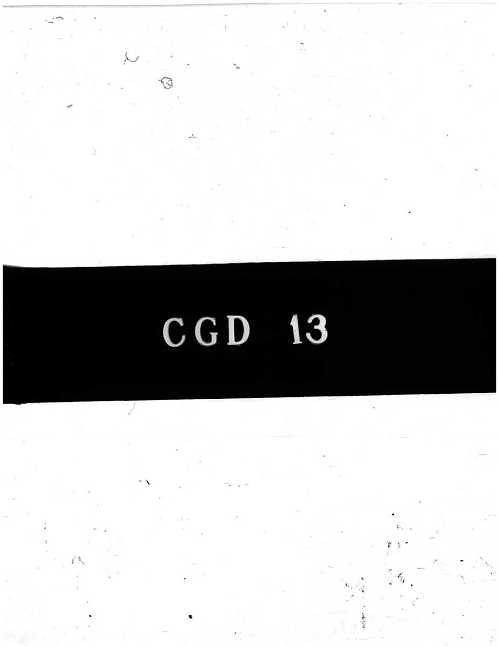 CGD-13 : Investigations Concerning the Critical State