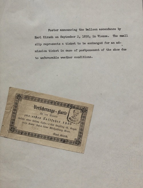 Carl Kirsch Balloon Ascension Poster (Austrian)