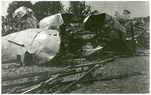 USS ZR-1  Shenandoah Crash Site Images Guthrie