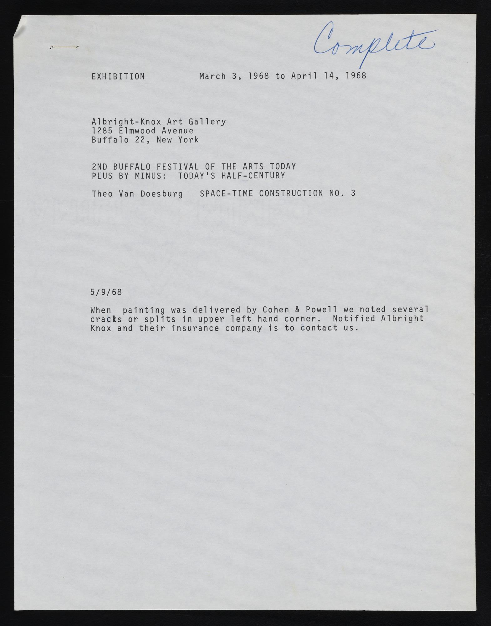 Exhibitions 1968
