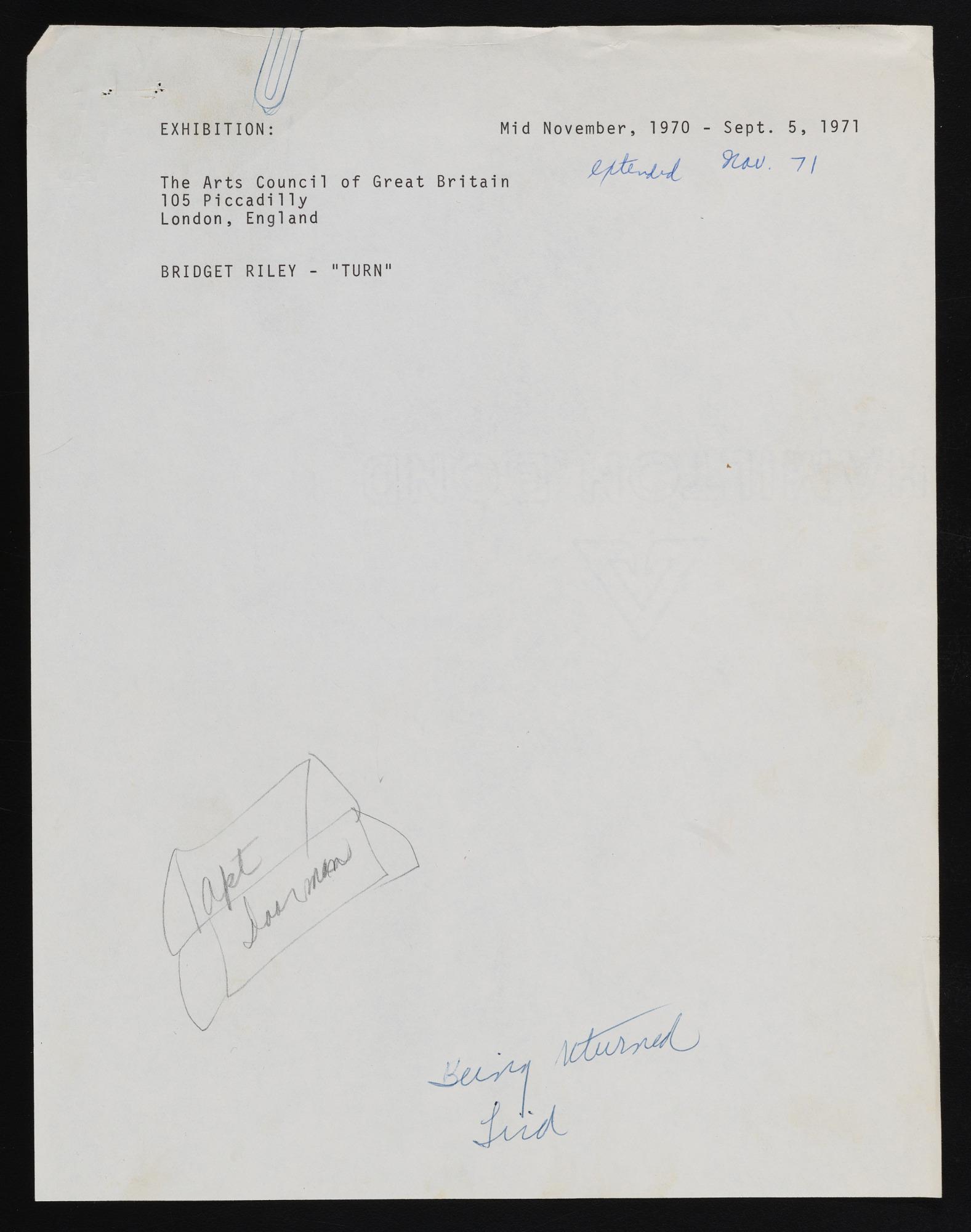 Exhibitions 1971