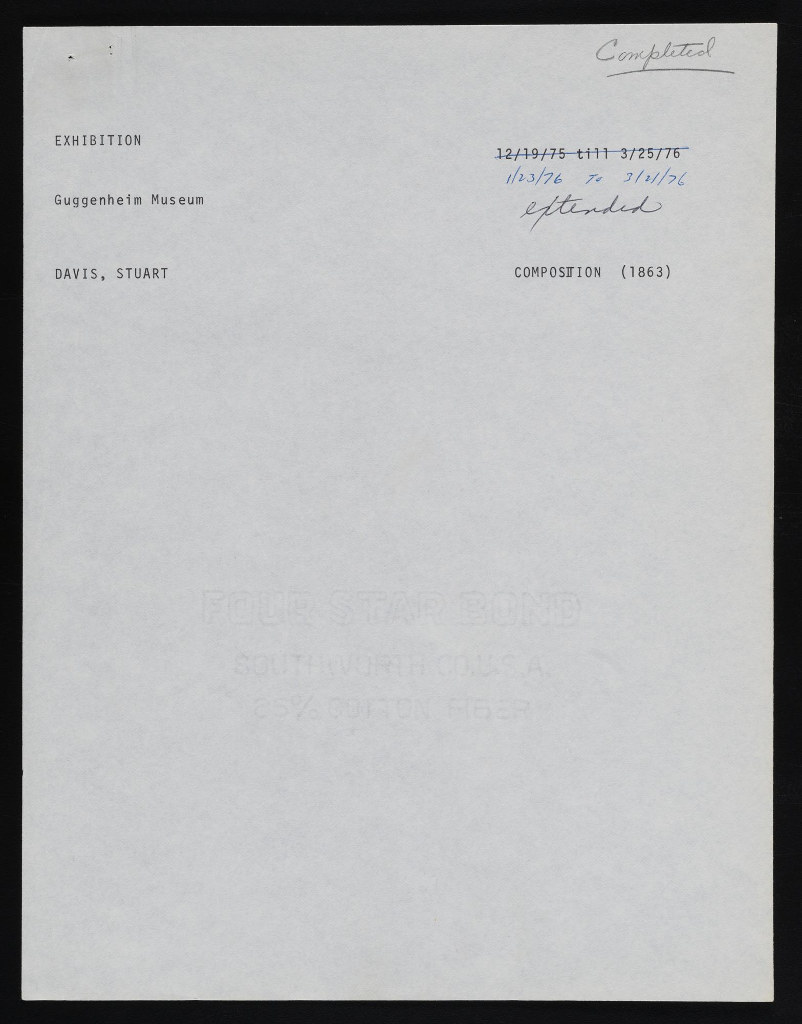 Exhibitions 1977