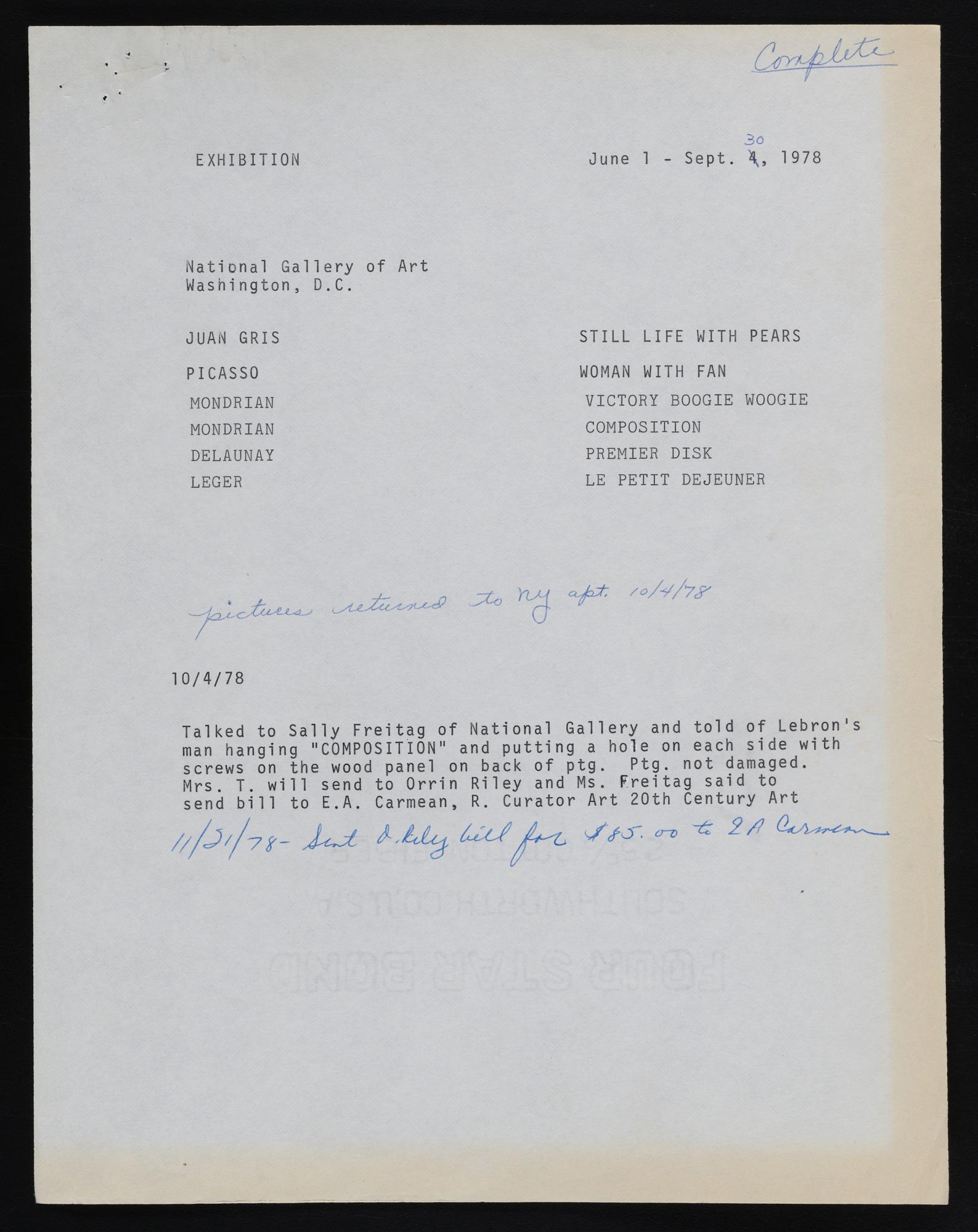 Exhibitions 1978