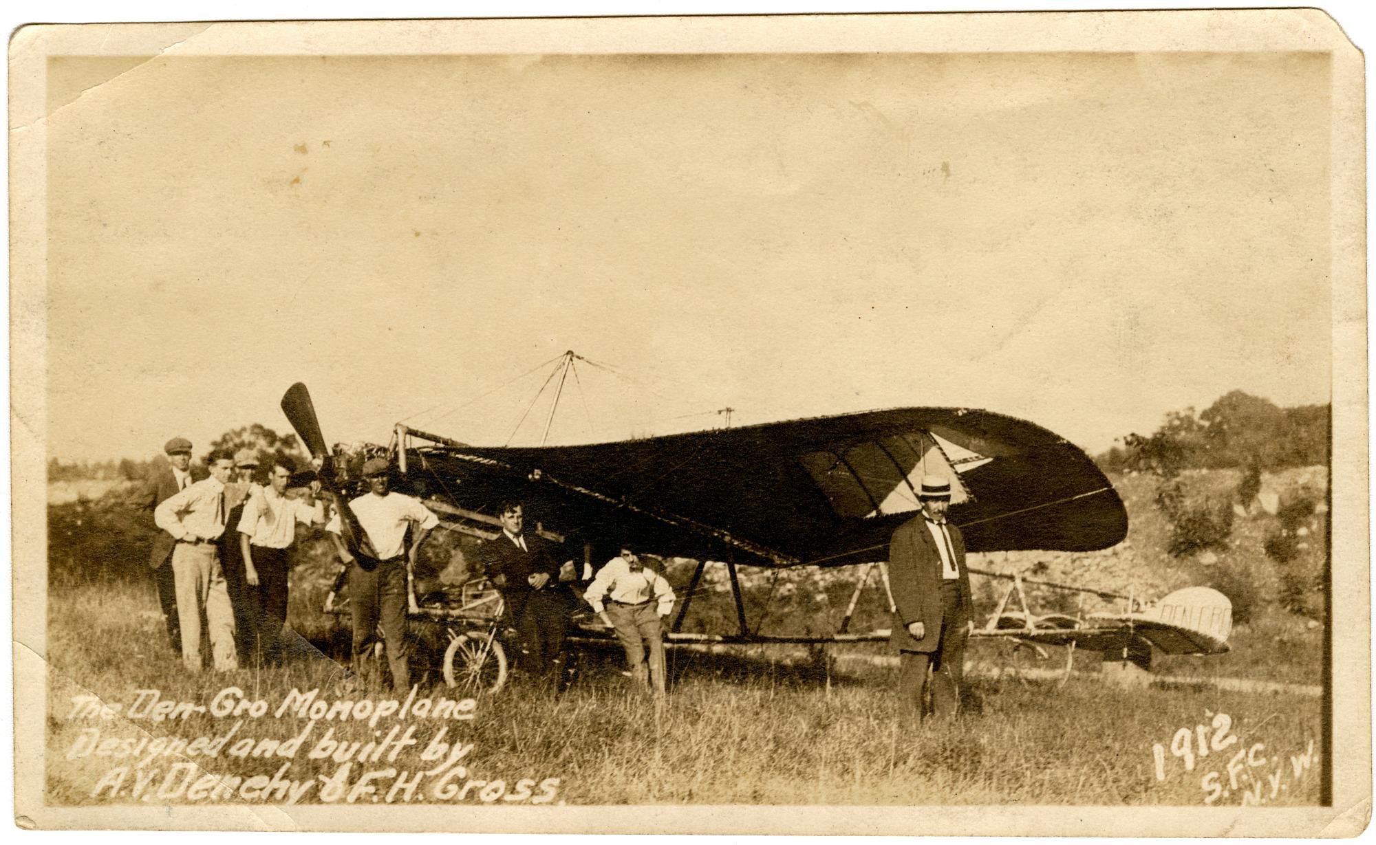 Den-Gro 1912 Monoplane Photographs