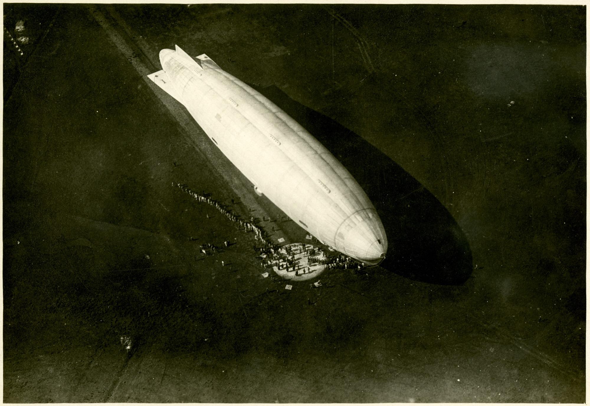 """SCA (Stabilimento di Costruzione Aeronautiche) N.1 """"Norge"""" Airship Photographs"""