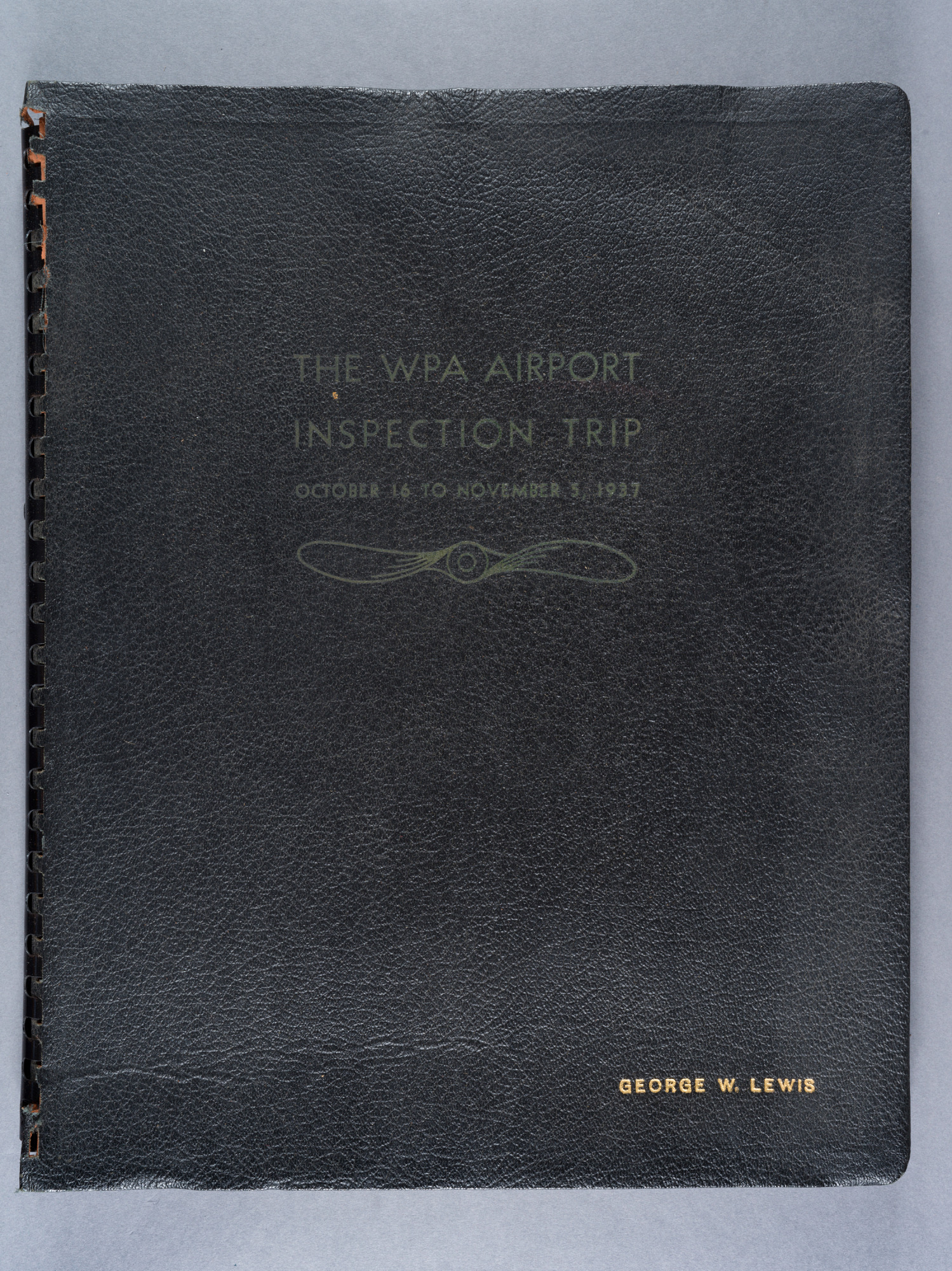 Works Progress Administration (WPA) Airport Inspection Scrapbook