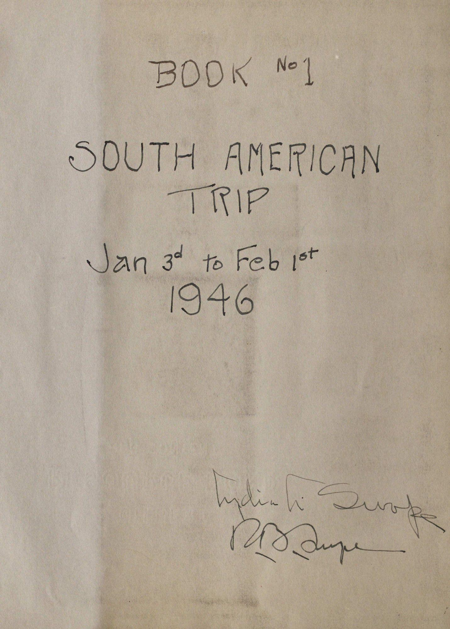 South American Aviation Travel Scrapbooks