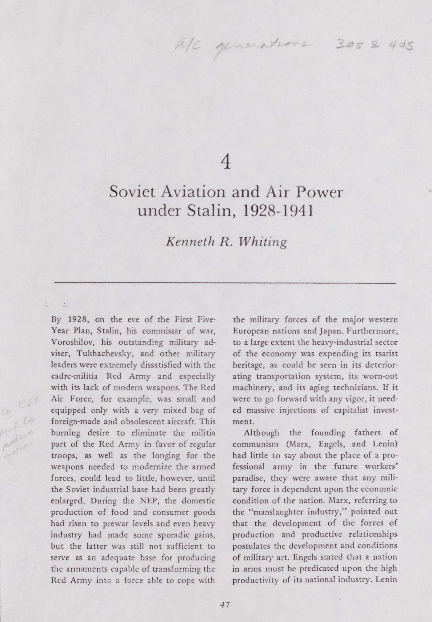 Soviet Aviation and Air Power Under Stalin, 1928-1941