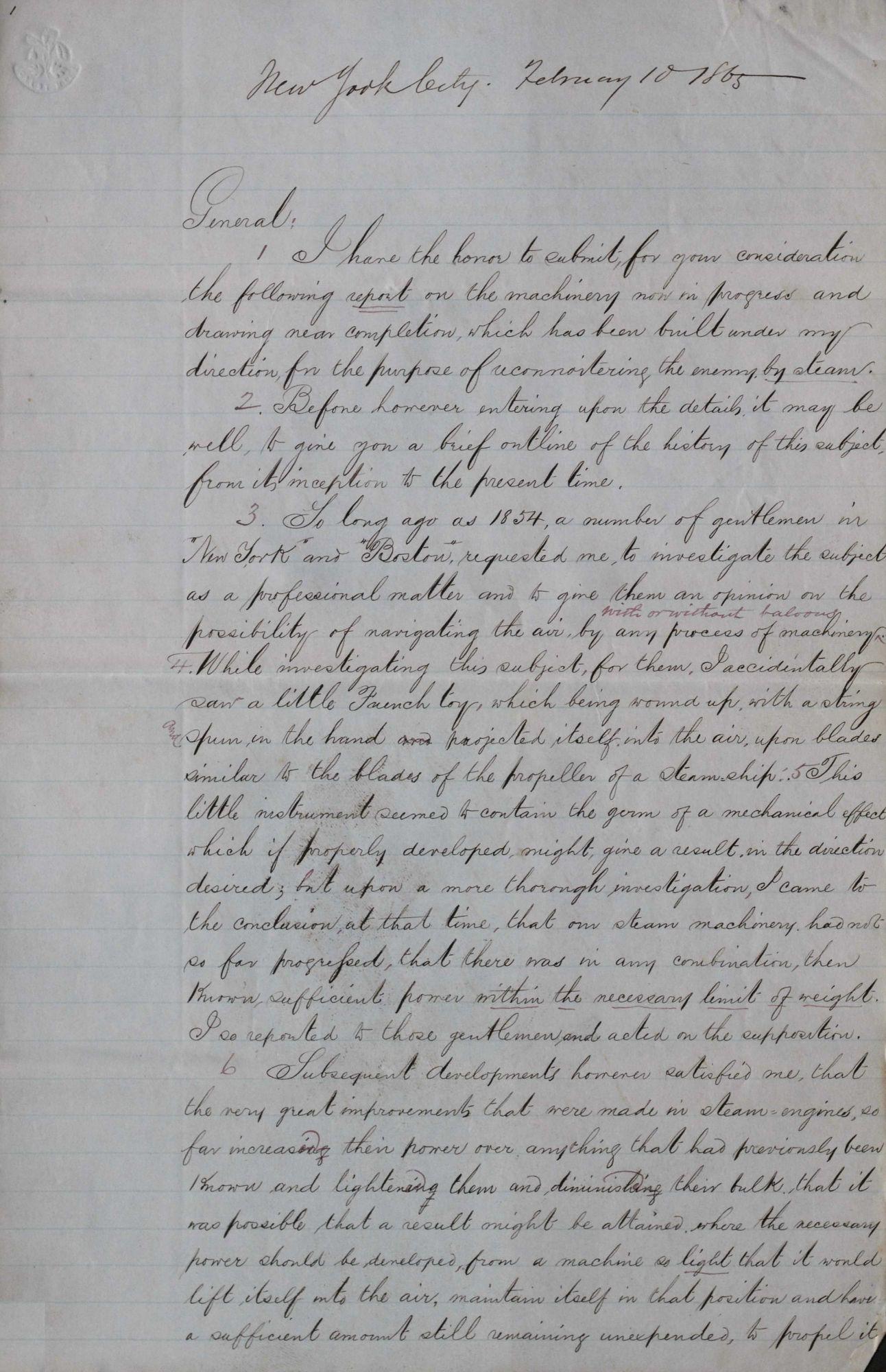 Edward Wellman Serrell Aeronautical Papers