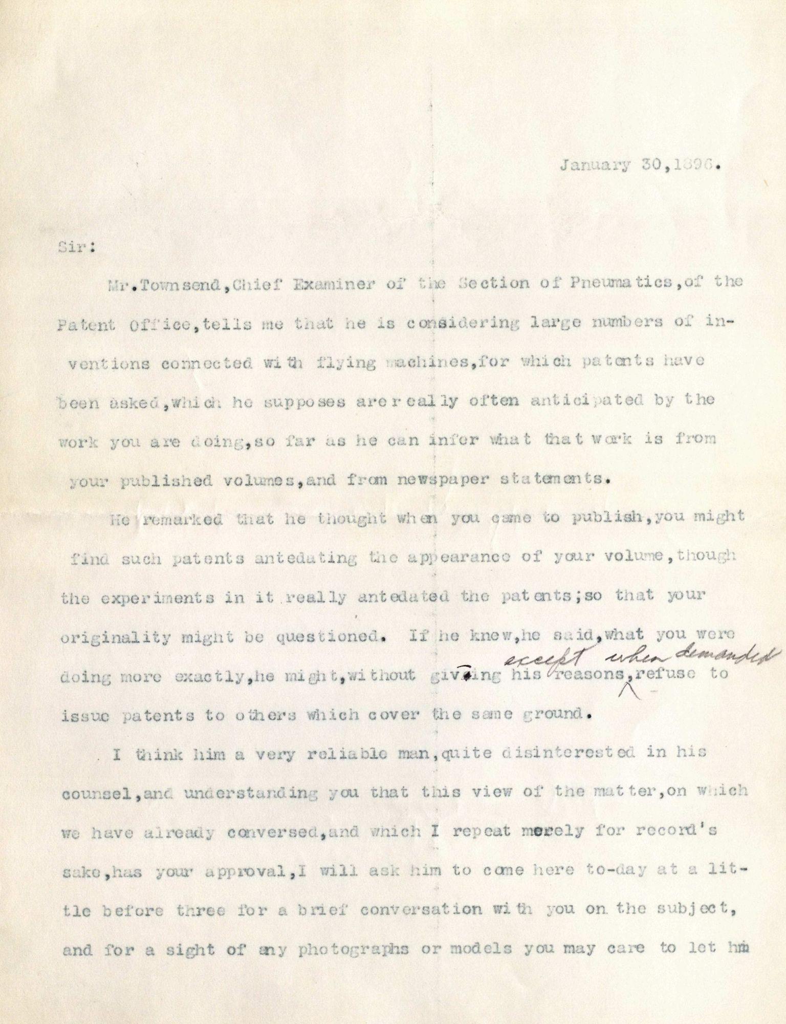 Correspondence, S.P. Langley - unidentified correspondents