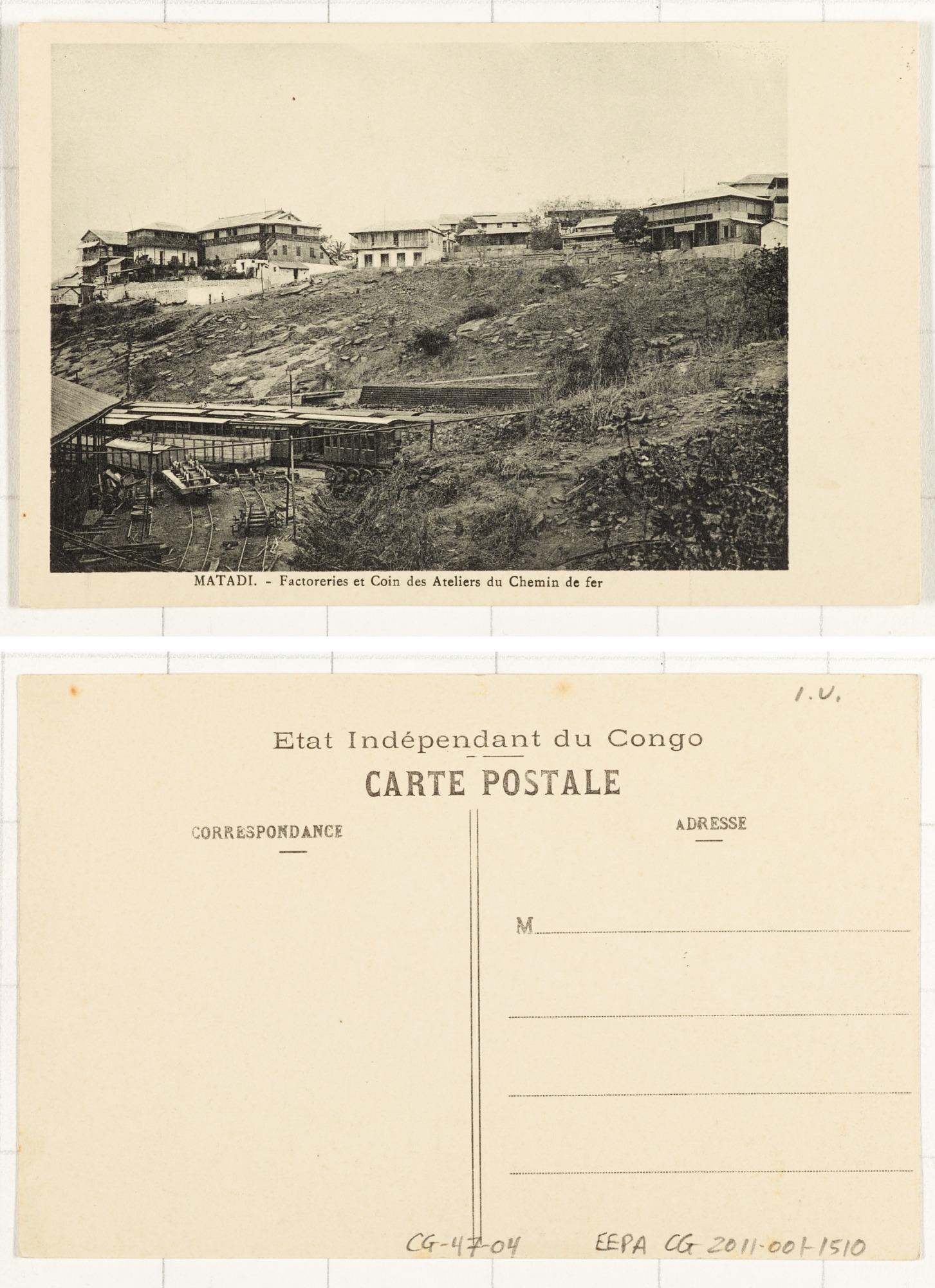 Matadi Factoreries et Coins des Ateliers du Chemin de fer