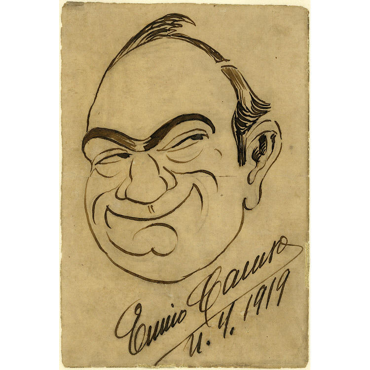 Enrico Caruso Self-Portrait
