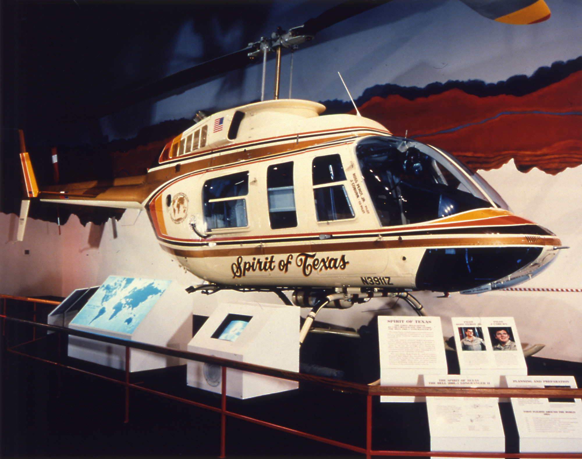 "Bell 206L-1 LongRanger II ""Spirit of Texas,"" Courtesy National Air and Space Museum"
