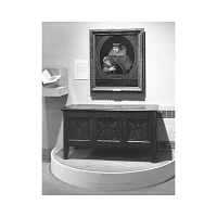 English oak chest