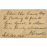 Abraham Lincoln's autograph
