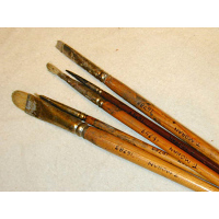 Thomas Moran's paint brushes