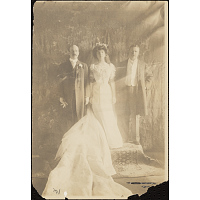 Theodore Roosevelt, Alice Roosevelt Longworth and Nicholas Longworth