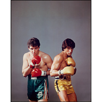 Gerry Cooney and Sylvester Stallone