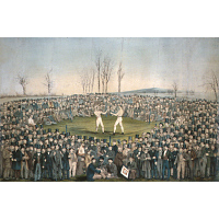 The International Contest Between Heenan and Sayers at Farnborough, on the 17th of April 1860
