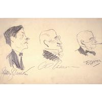 Jimmy Walker, Charles Dana Gibson and Frederick Opper