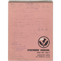 Sketchbook Containing Twelve Drawings of Hubert H. Humphrey, Jr.