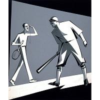 Bill Tilden and George Herman