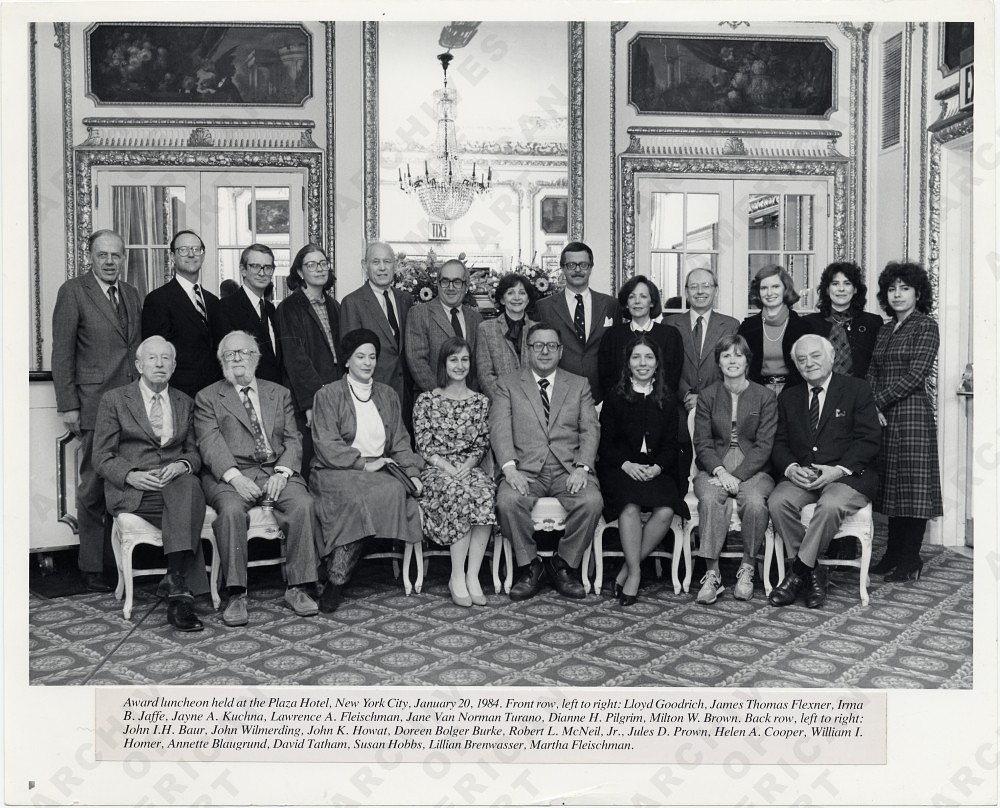 Board of the American Art Journal at an award luncheon held at the Plaza Hotel, New York City
