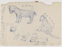 Untitled (Sketches of Animals)