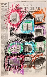 Untitled newspaper drawing