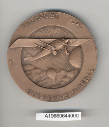 Case, Presentation, Medal, Daniel Guggenheim Medal, Robert H. Goddard, 1964