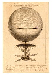 A Representation of M: Blanchard's Balloon, & Apparatus