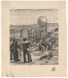 Gambetta Sort de Paris-1870