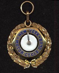 Medal, New York Motorcycle Club, Glenn Curtiss