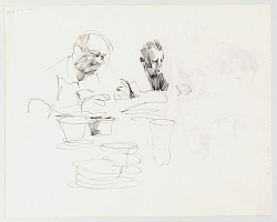Sketch of Astronauts Dining