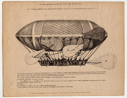 An Exact Representation of the First Aerial Ship the Eagle