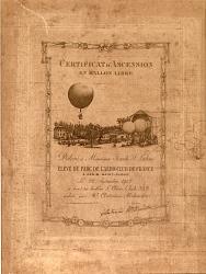 Certificat d'Ascension en Ballon Libre