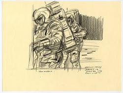 Drawing, Conté Crayon on Paper