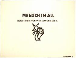 Mensch Im All, Holzschnitte Von Wilhelm Geissler