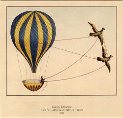 Neueste Erfindung Einen Luftballon Durch Adler Zuregieren