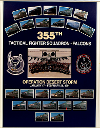 355th Tactical Fighter Squadron Falcons Operation Desert Storm January 17 -February 28th 1991