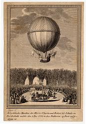 Aerostatische Maschine der Herrn Charles und Robert