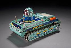 Tin Toy, Robot, Space Tank