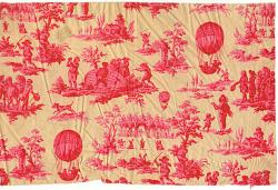 Texile, Fabric, Toile de Jouy, Balloon Print