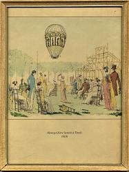 Montgolfiere Lancee a Tivoli 1800
