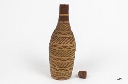 Basket-covered bottle