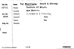Toy Whirligig, Gourd & String