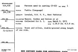 Casting Pattern