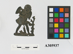 Bronze cut-out representing cupid