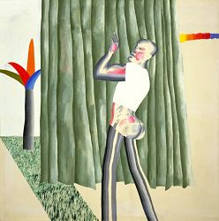 Cubist (American) Boy with Colourful Tree